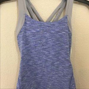 Lucy Fix It Tank Fitness Workout Blue XS NWT